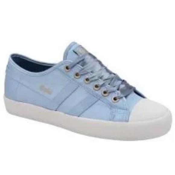 Anthropologie Gola Sneaker Coaster Blue Satin 10